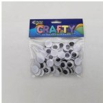 Wiggle Eyes 15mm Black and White Perfect Stationery
