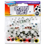 Crafty Bitz 200 Assorted Goggly Eyes