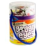 Crafty Bitz Tub 600 Self Adhesive Googly Eyes Coloured