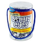 Crafty Bitz Tub 2000 Self Adhesive Googly Eyes 8mm