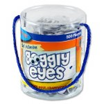 Crafty Bitz Tub 500 Self Adhesive Wiggle Eyes 15mm