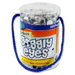 Craft Bitz 800 Self Adhesive Wiggle Eyes 12mm