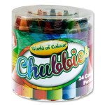 World Of Colour 24 Super Chubbies Crayons