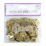Wooden Letters 150 Pieces Gold