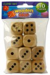 Wooden Dice 10 Pack Clever Kidz