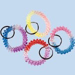 Spiral Plastic Key Chain for Wrist