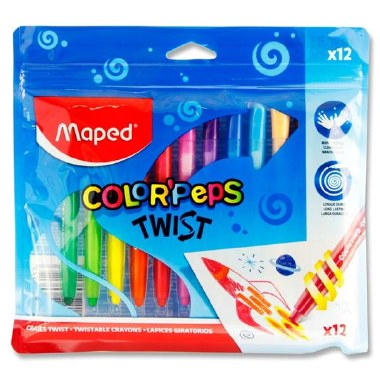 Color'Peps Twistable Crayons 12 Pack Maped