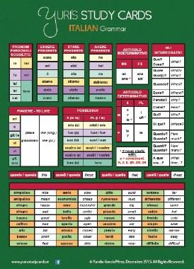 Yuri's Study Card Italian General Grammar