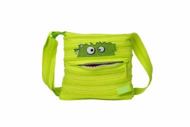 Zip It Talking Monstar Mini Shoulder Bag Lime