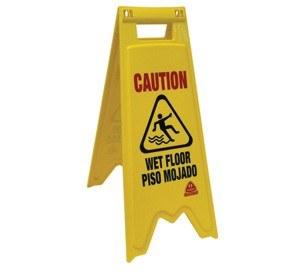 Wet Floor Sign Bilingual