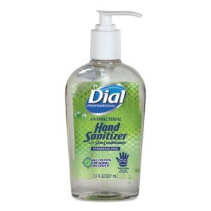 Dial Antibacterial Hand Sanitizer Gel 7.5oz (12)