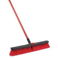 "Push Broom 24"" Red w/Handle"