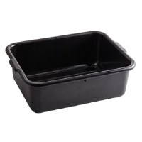 "Bus Tub 16"" x 21"" x 7"" Black"