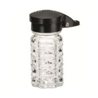 Glass Shakers Pepper ABS Black