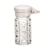 Glass Shakers Salt ABS White