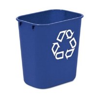 13 Quart Blue Recycling Wastebasket