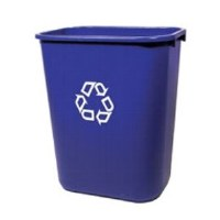 28 Quart Blue Recycle Wastebasket
