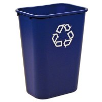 41 Quart Blue Recycle Wastebasket
