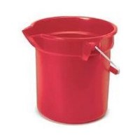 10qt Round Utility Bucket Red