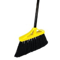 "Black 12"" Flagged Angle Broom"