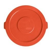 Round 32 Gal Flat Lid Orange