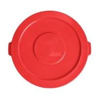 Round 32 Gal Flat Lid Red