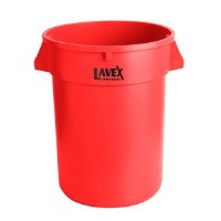 Round 32 Gal Container Red