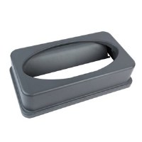 Slim Trash Can Swing Lid Gray