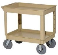 Utility Cart Beige 2-Shelf