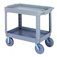Utility Cart Gray 2 Tier