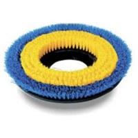 "Carpet Brush Poly 13"" Blue/Yel"