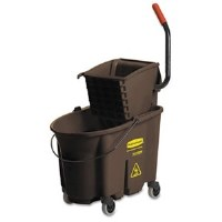Rubbermaid 35qt WaveBreak Brown Bucket/Wringer