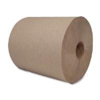 "Hardwound Brown Roll Towels 8""x750' (6)"