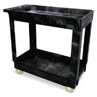 Utility Cart Black 2 Shelf RM