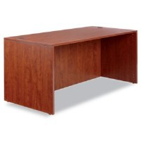 Alera Valencia Straight Front Desk Cherry