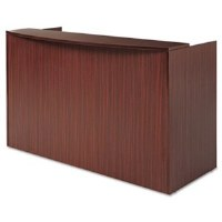 Alera Valencia Reception Desk Mahogany