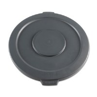 Round Waste Receptacle Lid 44gl Gray