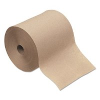 "Hardwound Brown Roll Towels 8""x700' (6)"