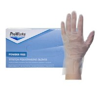 Stretch Poly Clear Gloves Large (10/200)