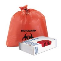 "Biohazard Red Can Liners 24"" x 23""  1.3mil (500)"