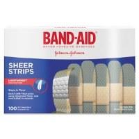 "Sheer Adhesive Bandages 3/4"" x 3"" (100)"