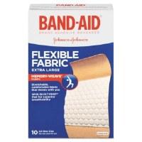 """Flexible Fabric X-Large Adhesive Bandages 1.25"""" x 4"""" (10)"""