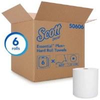 "Kleenex Hard Roll White Towels  8""x600' (6)"