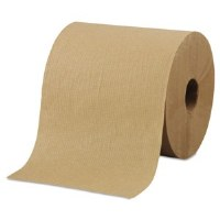 "Hardwound Brown Roll Towels 8""x800' (6)"