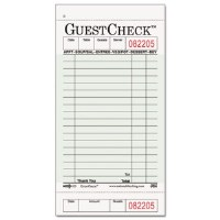 Guest Check Pad 1-Part (50)