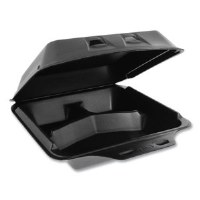Foam Container 3-Comp Large BK