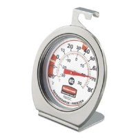 Stainless Steel Refrigerator/Freezer Thermometer