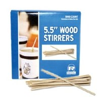 "Coffee Stirrers 5.5"" Wood"