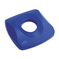 Rubbermaid Square Lid Blue Can