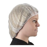 "Hairnets Nylon White 24"" (144)"